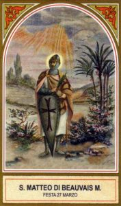 Saint Matthew of Beauvais, Martyr