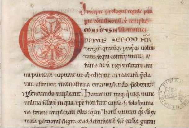 A copy of the Regula Latina, the ancient rule of the Knights Templar